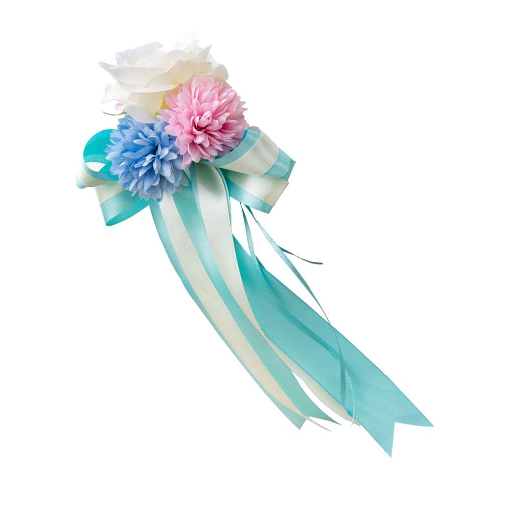 Rosa 30 x 15 x 8cm P Prettyia Lazo de Flor para Boda Decoraci/ón de Coche