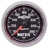 Auto Meter 3655 2-1/16'' 100- 260 F Full Sweep Electric Water Temperature Gauge