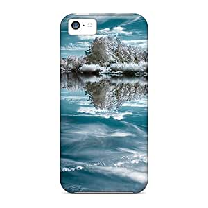 Quality Trolford Case Cover With Mirror Of Ice Nice Appearance Compatible With Iphone 5c