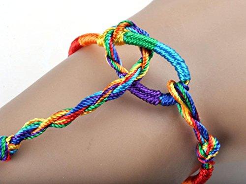 Clearance ! Yang-Yi 50Pcs Fashion Wholesale Jewelry Lot Braid Strands Friendship Cords Handmade Bracelets Chain (as show, 50PCS)