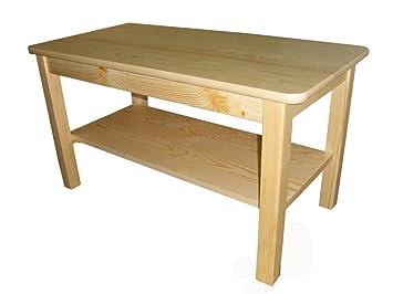 Couchtisch Beistelltisch Tisch Kiefer Massiv Holz 80 X 50 X 55 Cm