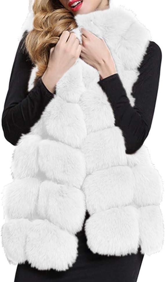 Manteaux vestes et gilets noirs pour femme, fausse fourrure