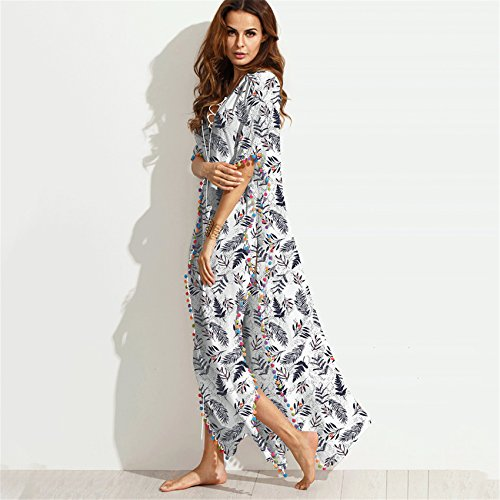 Boden Ärmel Kimono Ärmel Schnürung Schnürschuh Tiefer VAusschnitt ...