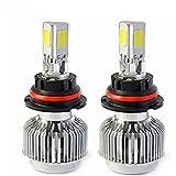 Automotive HB5 9007 72W Hi/Lo Headlight Bulbs LED Conversion Kit Xenon 6000K White Halogen/HID Replacement