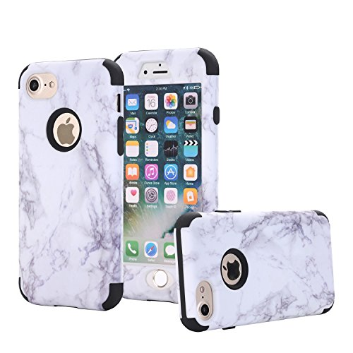 iPhone-7-Case-AOKER-Marble-Design-Slim-Dual-Layer-Anti-Scratch-Fingerprint-ShockProof-Hard-Back-Cover-Soft-Silicone-Protective-Case-Fit-for-Apple-iPhone-7-47-inch
