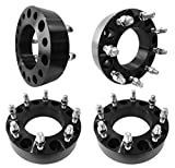 8x180 Wheel Spacers 2-Inch 8-Lug Wheel Spacers 50mm (2') (124.1mm bore, 14x1.5 Studs & Nuts) for 2011-2016 Chevrolet Silverado, 2011-2016 GMC Sierra Duramax (4-pieces)