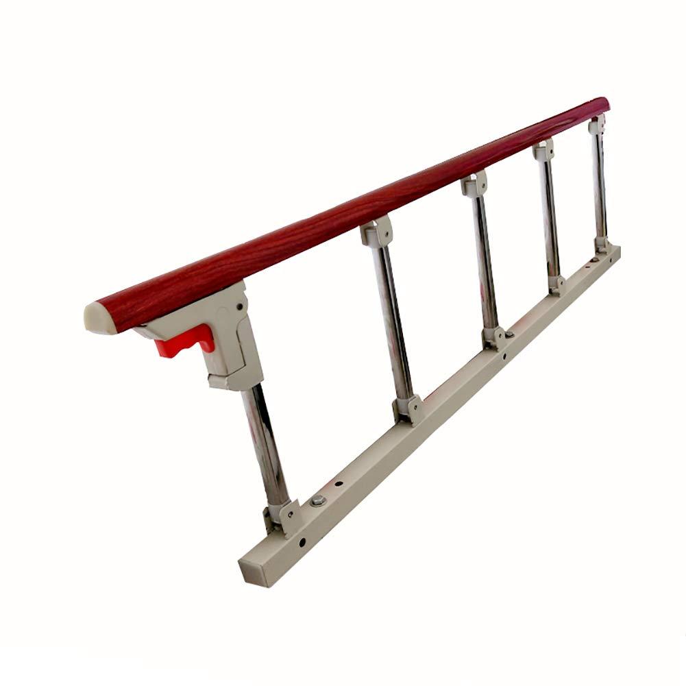 高齢者、大人、幼児の折る病院のベッドサイドグラブバーのバンパーのハンディキャップの医療補助装置、1PCSのためのBedrailの安全補助のハンドルのベッドガード (色 : Red wood grain, サイズ さいず : 120x40cm+8cm) 120x40cm+8cm Red wood grain B07MQNL2MF