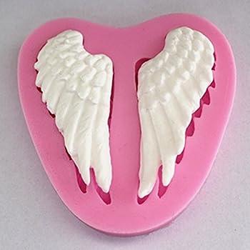 Longzang Small Angel Wings Silicone Mold Sugar Craft DIY Gumpaste Cake Decorating Clay