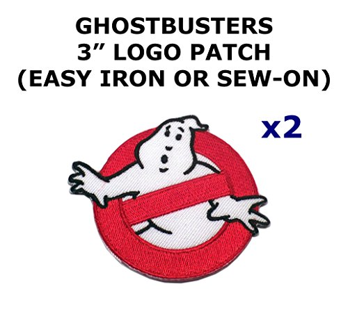 2 PCS Ghostbusters Theme DIY Iron / Sew-on Decorative Applique Patches