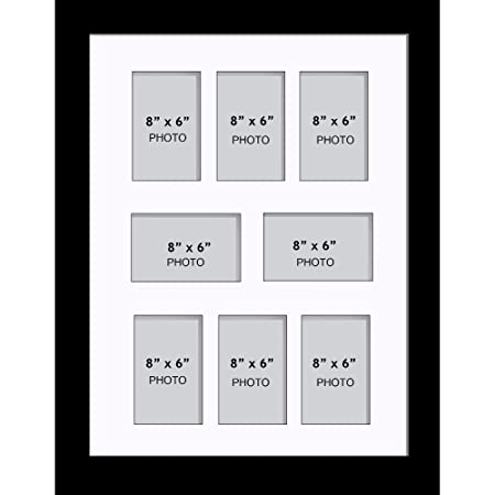 Large Multi Picture Photo Aperture Frame 8\