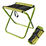 Portable Outdoor Folding Chair Light Fishing Dew Camping Barbecue Lined up Train Bench Sketch Folding Chair-Green