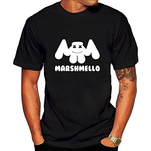 Marshmello Graphic Tee Men's Short Sleeve T-Shirt - Shipping Usps Singapore