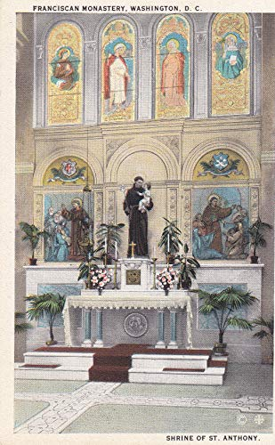 073VINT01 R-82008 SHRINE OF ST. ANTHONY, MT. ST. SEPULCHRE, FRANCISCAN MONASTERY, WASHINGTON, D.C SOUVENIR VINTAGE ANTIQUE COLLECTIBLE POSTCARD from HIBISCUS EXPRESS