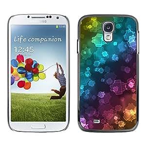 Paccase / SLIM PC / Aliminium Casa Carcasa Funda Case Cover para - Wallpaper Neon Robots Bling Universe - Samsung Galaxy S4 I9500