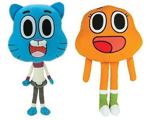 AMAZING WORLD OF GUMBALL 2 PIECE STUFF TOY 8 INCH SET by AMAZING WORLD OF GUMBALL ()