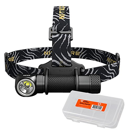 NITECORE HC33 1800 Lumen High Performance Versatile L-Shaped Headlamp with Lumen Tactical Battery Organizer