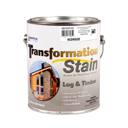 Sashco Transformation Log and Timber Stain, 1 Gallon Pail, Redwood (Pack of 1)