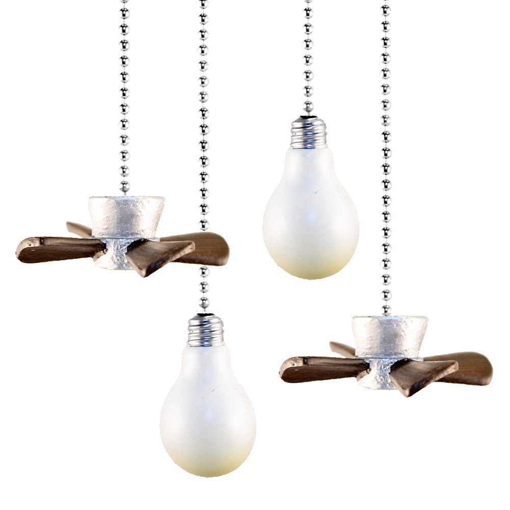 4 Pieces Set Decorative Stylish Convenient Ceiling Fan and Light Pull Chain Holder By CTD Store