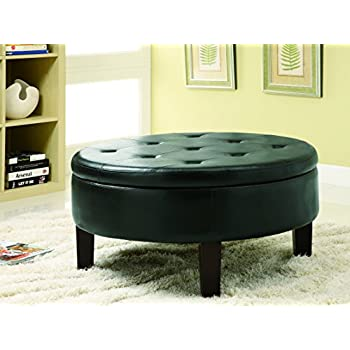 Amazon Com Winston Large Round Storage Ottoman Kitchen