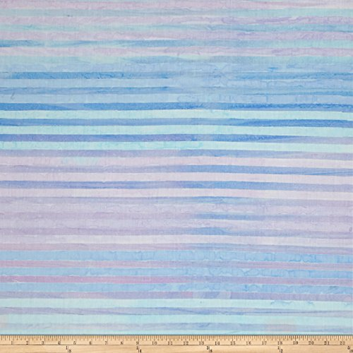 Robert Kaufman Kaufman Batiks Elementals Stripes Sky Fabric by The Yard