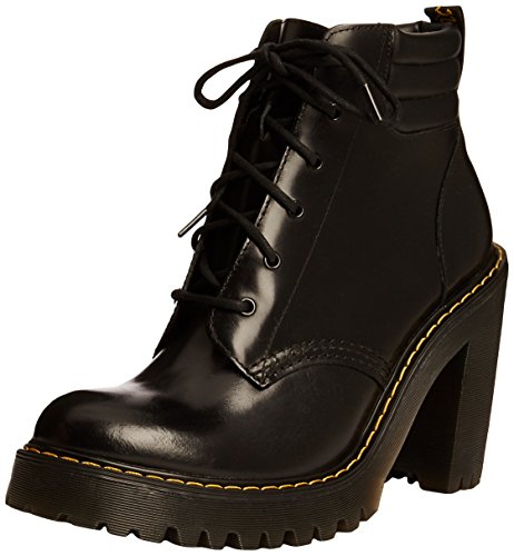 Dr. Martens Women's Persephone Heeled Boot, Black, 7 UK/9 M - Uk Ladies Boots Designer