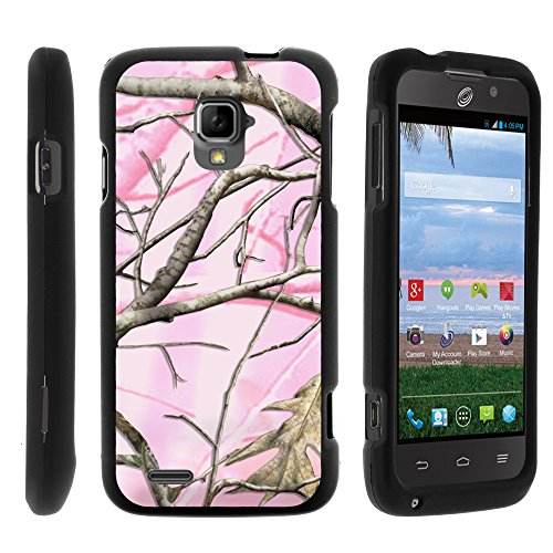 ZTE Rapido LTE Case, Perfect Fit Cell Phone Case Hard Cover with Cute Design Patterns for ZTE Rapido LTE Z932L from MINITURTLE - Pink Hunter Camouflage