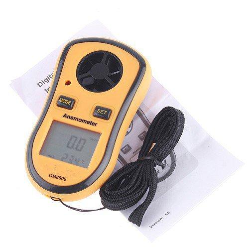 Gm8908LCD Digital Wind Vitesse Température Mesure Jauge anémomètre Outil idéal pour planche à voile Voile Pêche cerf-volant Flying alpinisme SGerste