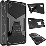 Tarkan Warrior Soft Rubber Back Case Cover with KickStand For OnePlus X [Onyx, Black]