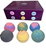 Bath Bomb Without Citric Acid Cosmic Bath Bombs  All Natural, Ultra Lush & Gluten Free  Handmade in the USA with Organic Shea Butter & Organic Sunflower Oil (Variety Kit)