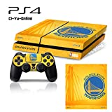 [PS4] NBA #1 Golden State Warriors Whole Body VINYL SKIN STICKER DECAL COVER for PS4 Playstation 4 System Console and Controllers