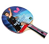 Butterfly Nakama S-7 Table Tennis Racket – Professional ITTF Approved Ping Pong Paddle – Sapphira Table Tennis Rubber and Thick Sponge Layer Ping Pong Racket – 2 Ping Pong Balls Included