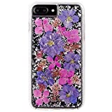 Case-Mate iPhone 7 Plus Case - KARAT PETALS - Made with Real Flowers - Slim Protective Design - Purple BUNDLE Wall Charger + Cable