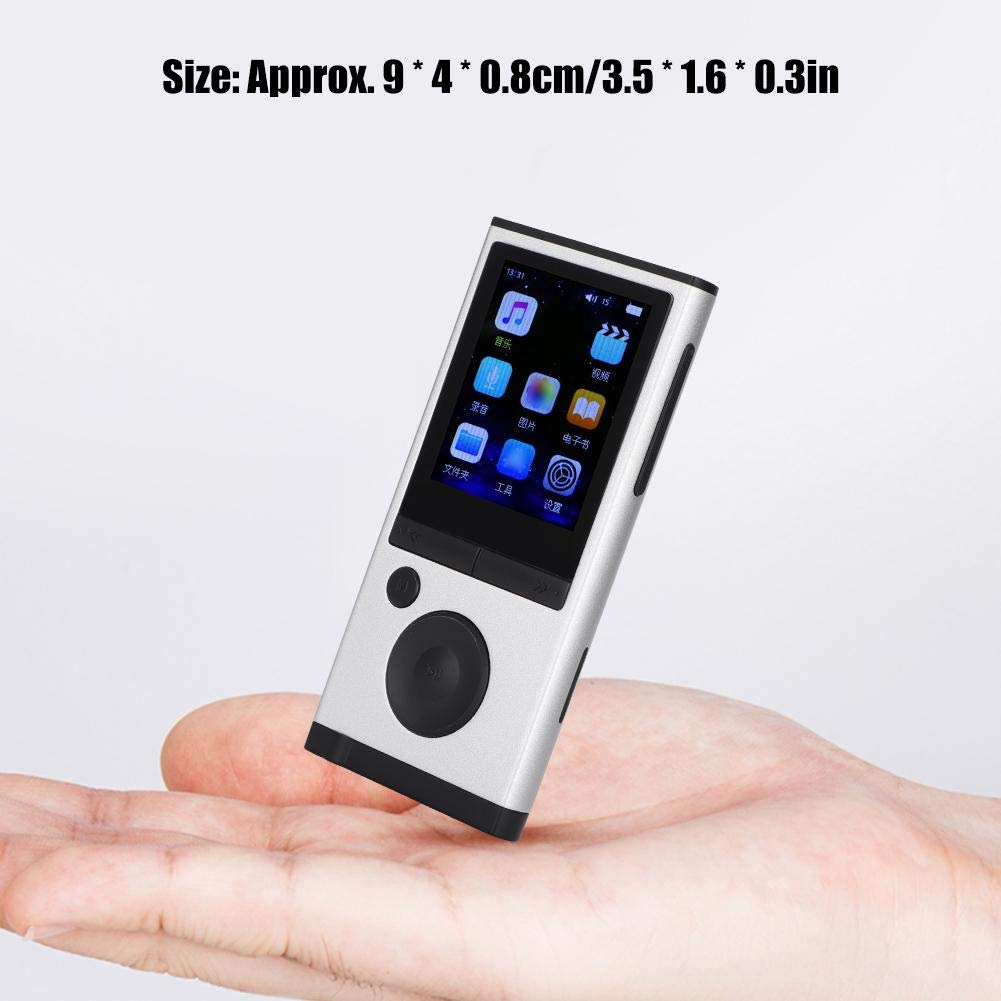 MP3 Player, 1.8 inch TFT Portable HiFi Digital Music Audio MP3 Player Support FM Radio, Voice Recording, 32GB TF Card with Earphone Wearable Music Player for Sports, Travel, etc. by Ciglow (Image #7)
