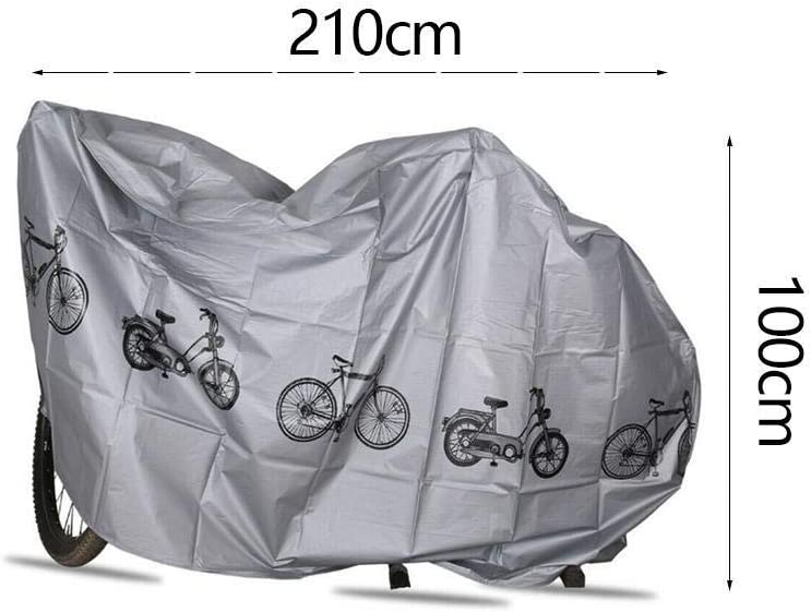 Black Universal Bicycle Cover Bike Moped Scooter Sheet UV Weather Proof Shelter