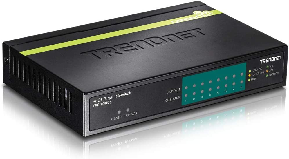 TRENDnet 16-Port Gigabit PoE+ Switch, 246 Watt PoE Budget, 32 Gbps Switching Capacity, Rack Mountable with Hardware Included, LED Indicators, Lifetime Protection, TPE-TG160G (Renewed)