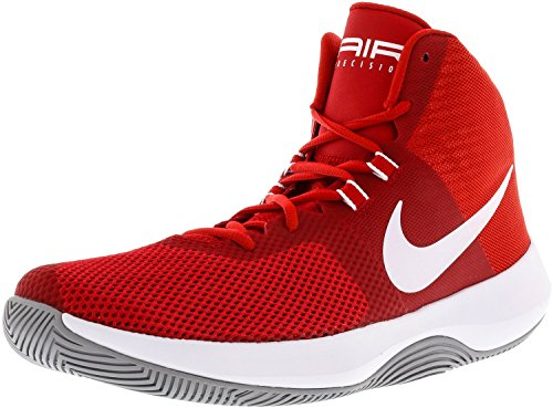 Nike NIKE AIR Precision – Chaussures Sportives, homme, rouge – (University Red/white-wolf Grey)
