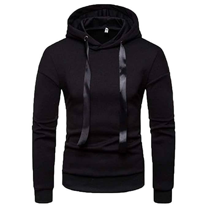 Men's Hoodies Pullover Casual Solid Color Sweatshirts Cozy