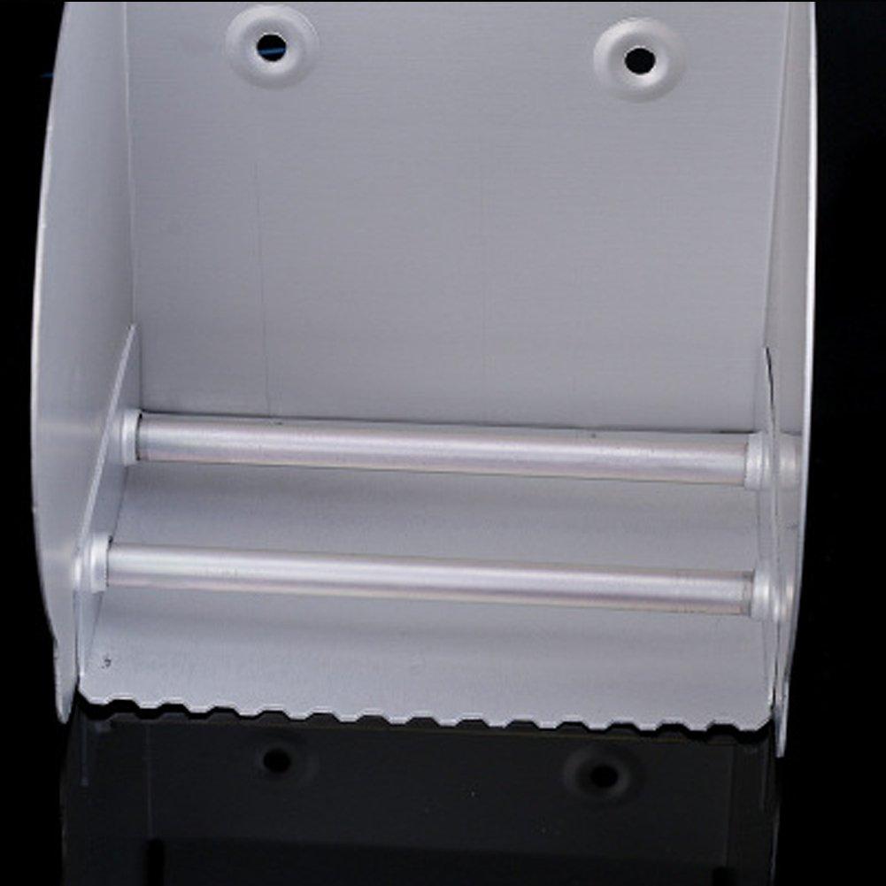 casa de Hotel Caja de Aluminio para Cuarto de ba/ño CVERY Portarrollos de Papel higi/énico Soporte Cerrado de Agua Tama/ño Libre toallero profundizado Plata Resistente al Polvo