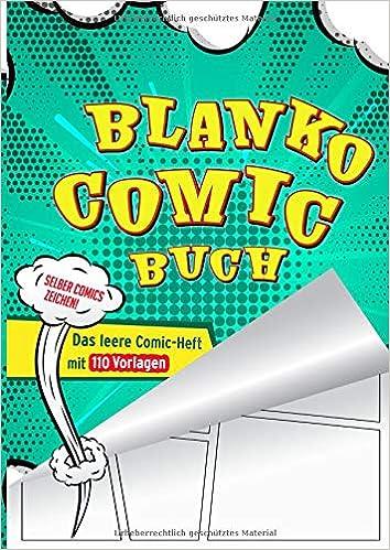 Blanko Comic Buch Das Leere Comic Heft Mit 110 Vorlagen