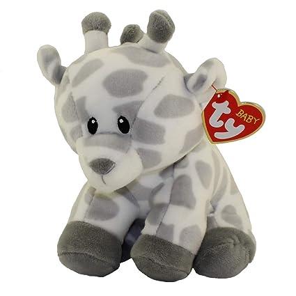 Amazon Com Baby Ty 6 Gracie The Grey Giraffe First Perfect Plush