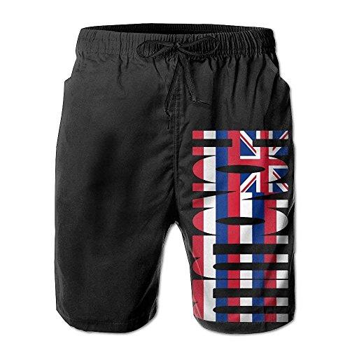 Maryland Pockets Shorts Mens F Shorts Beach Summer Board USA Flag with Vintage 5wvqgg