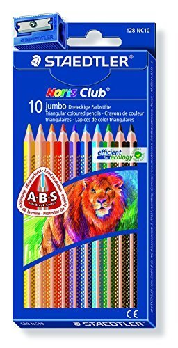 Staedtler Jumbo Farbeed Pencils, 4mm. Inc. Box of 10 (128NC10) by Staedtler Inc. 4mm. 27d659