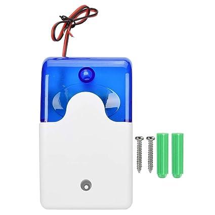 Alarma sonora, Sirena de cable de 12 V para sistema de alarma de seguridad para interiores, Sistema de alarma de seguridad