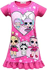 BackStri Unicorn Girls Nightgown Kids Long Sleeve Pajama Night Dress