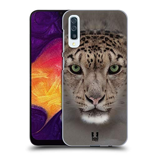 - Head Case Designs Snow Leopard Animal Faces 2 Hard Back Case Compatible for Samsung Galaxy A50 (2019)