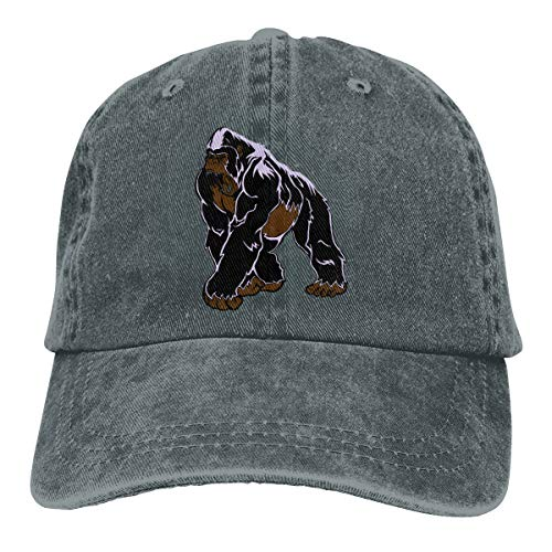Scary Gorilla Denim Hat Adjustable Mens Flag Baseball Hat