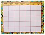 RetailSource DAR017ED72 Large Calendar Bright Dots, 22'' x 17'', 1 Piece Grade (Pack of 72)