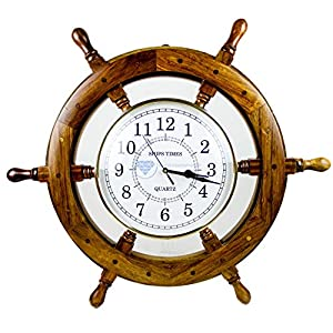 51Zp1Ja9rsL._SS300_ Best Ship Wheel Clocks
