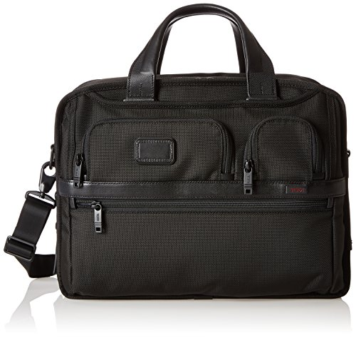 Tumi Alpha 2 Expandable Organizer Laptop Brief, Black, One (Expandable Leather Laptop Brief)