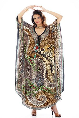 Women's Georgette Printed Turkish Kaftans Beachwear Bikini Cover up Dress By D G PRINTS FAB (Style no: DGPF-0040)